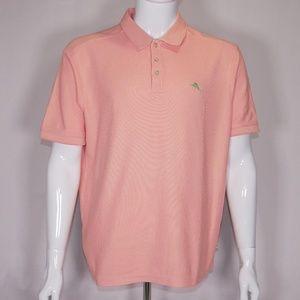 Tommy Bahama Orange Polo Shirt L Signature Pima